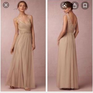 Anthropologie sandstone gown size 8 new